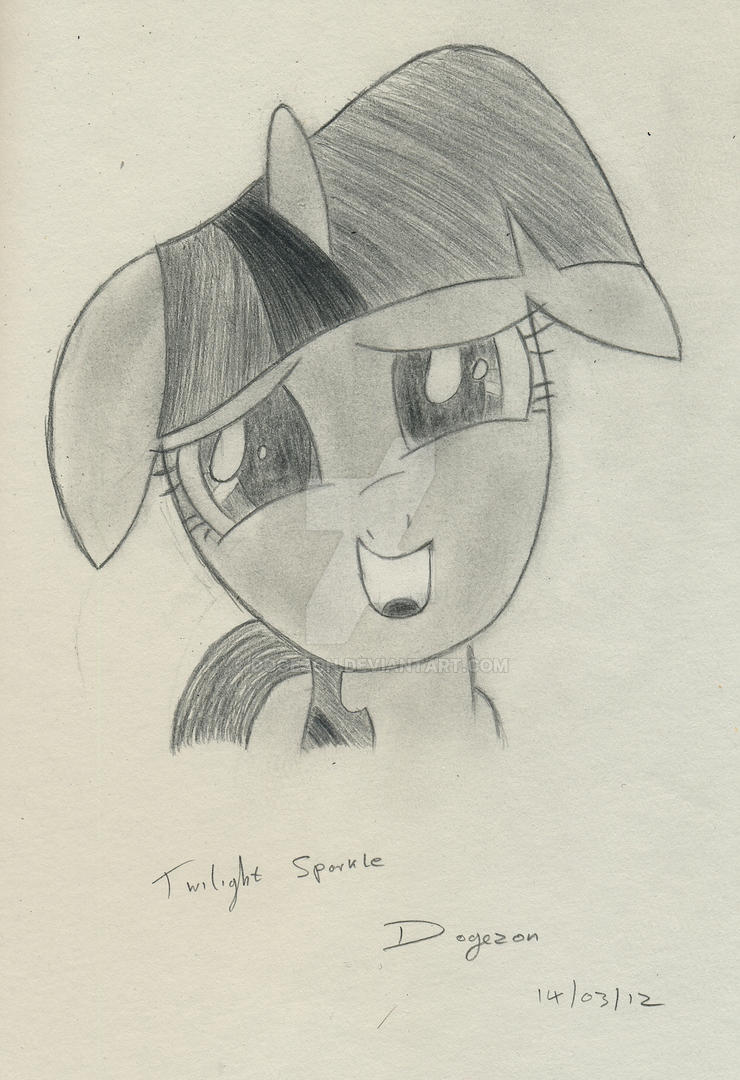 Twilight Sparkle Portrait by Dogezon