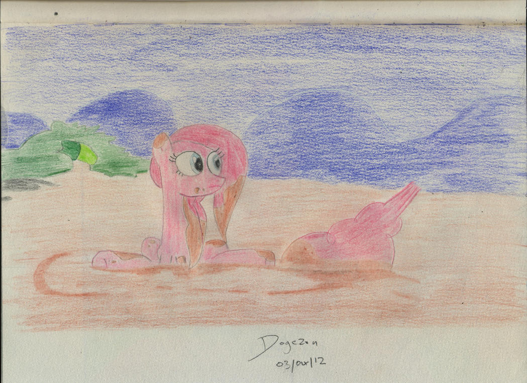 Pinkie Pie in the mud by Dogezon