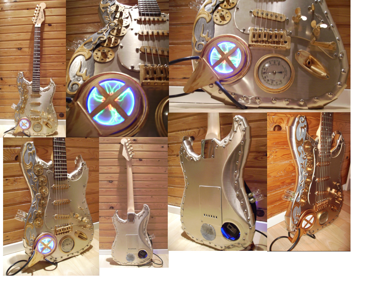 Steampunk guitar by Spagheth