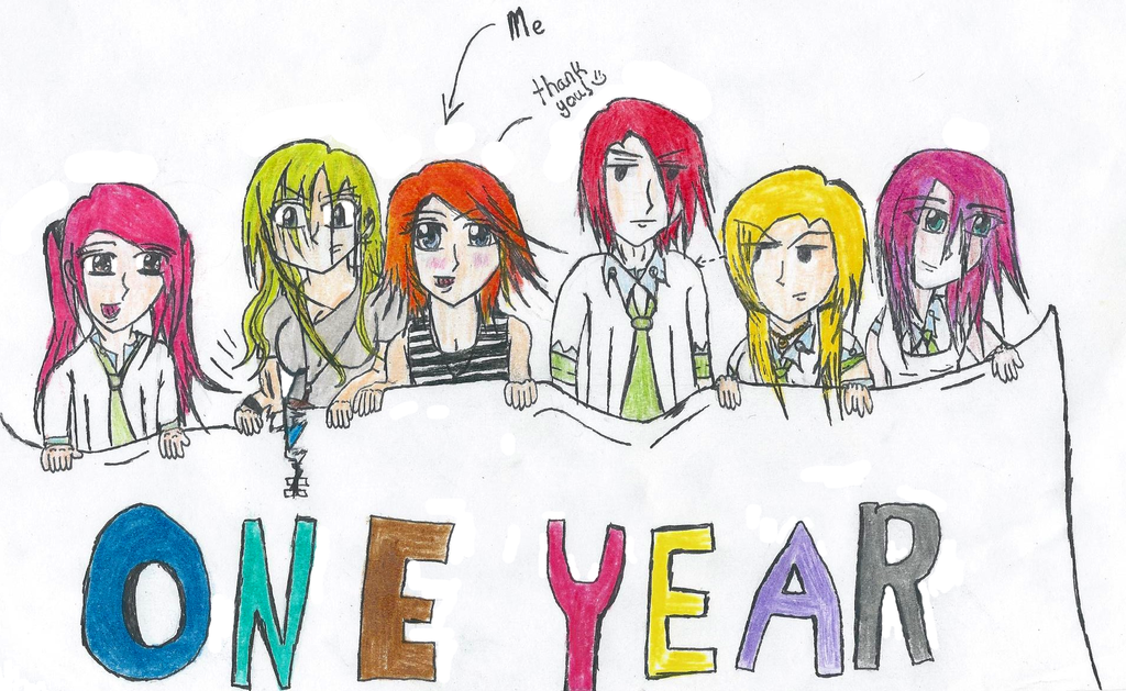 One year On DeviantART!!! by Megwenvids
