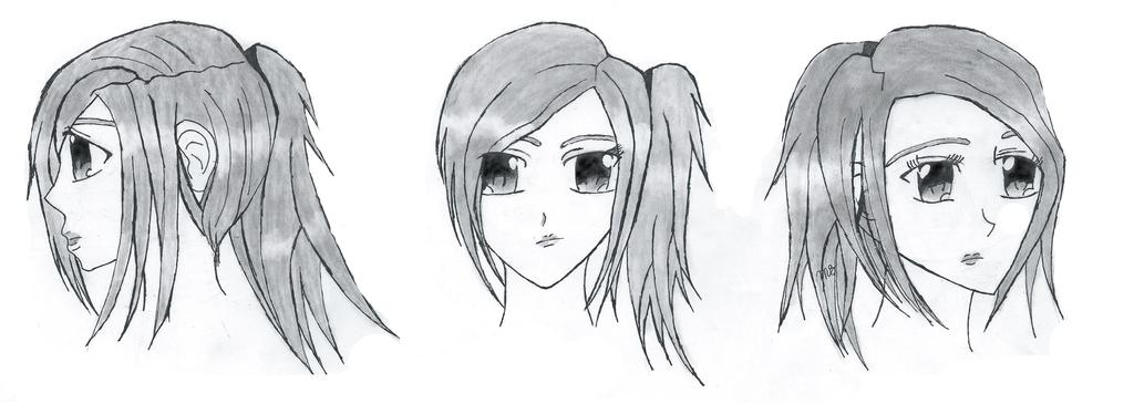 Anime Girl in profile by Lenaleekitkat