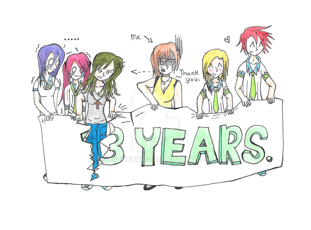 3 Year anniversary (thank you!) by Megwenvids