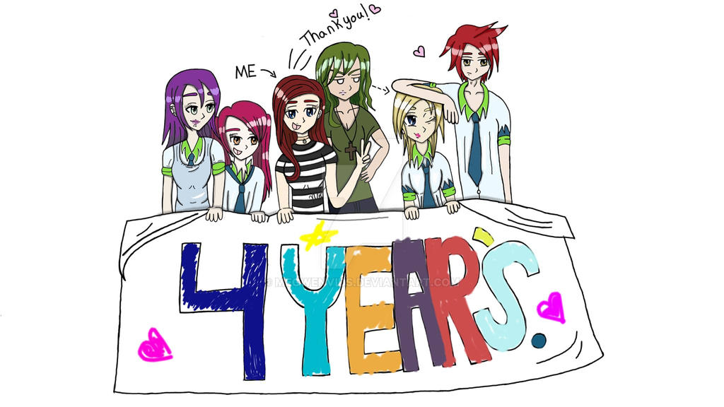 4 years on deviant art FINISHED. by Megwenvids