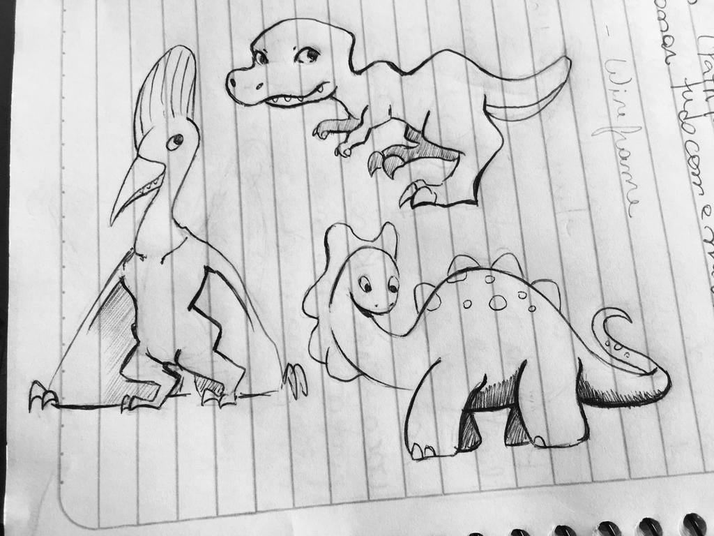 Walk like a Dinosaur!  by dididoodles