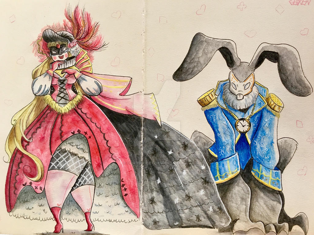 Alice in Venice Carnival  by dididoodles