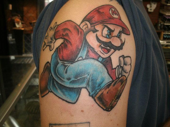 Super Mario Tattoo by ShannonRitchie