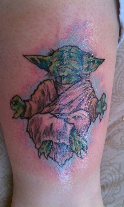 Yoda Bhudist Tattoo by ShannonRitchie