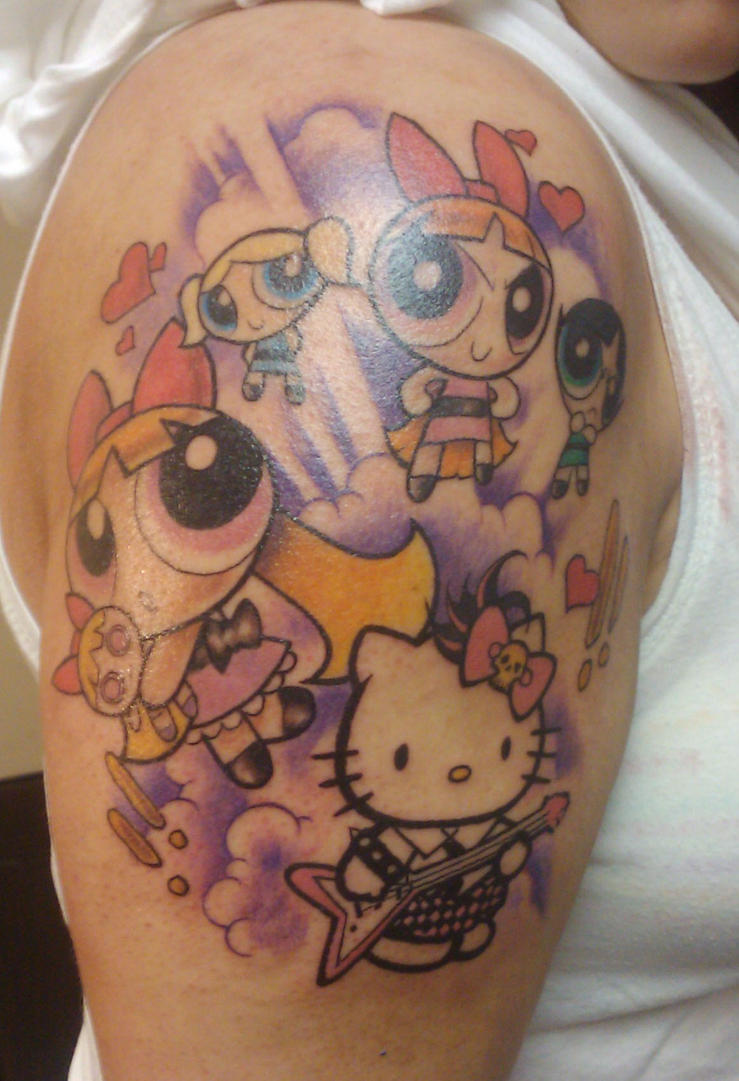 Power Puff Girl Tattoo by