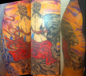 e5f3a3730 Lion and Lady Tattoo finished by ShannonRitchie on DeviantArt