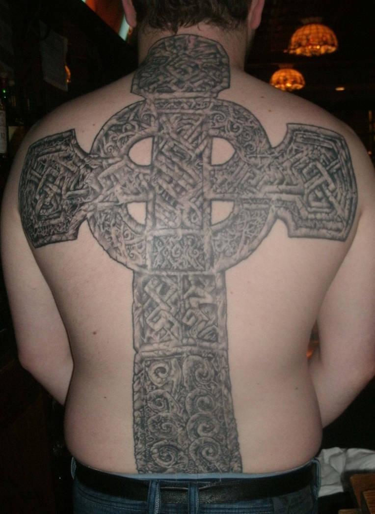 Cross Tattoo last session