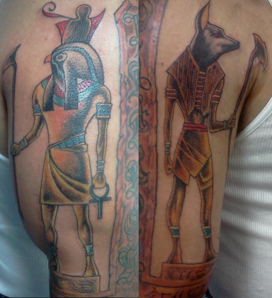 Anubis and Horrus Tattoos by ShannonRitchie
