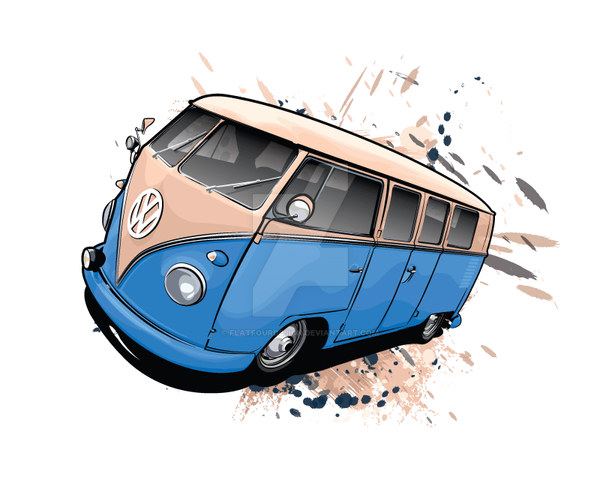 Vw Camper By Flatfourdesign On Deviantart