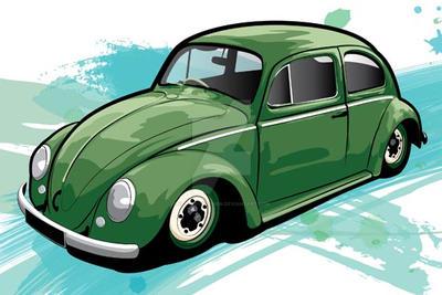 Slammed VW Beetle by flatfourdesign