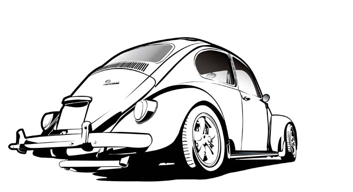 Line Drawing Of Car : Street perspective drawing free vector download