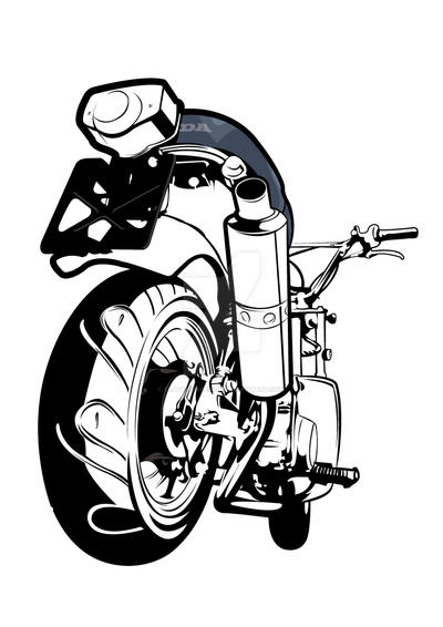 honda chaly line work by flatfourdesign on deviantart