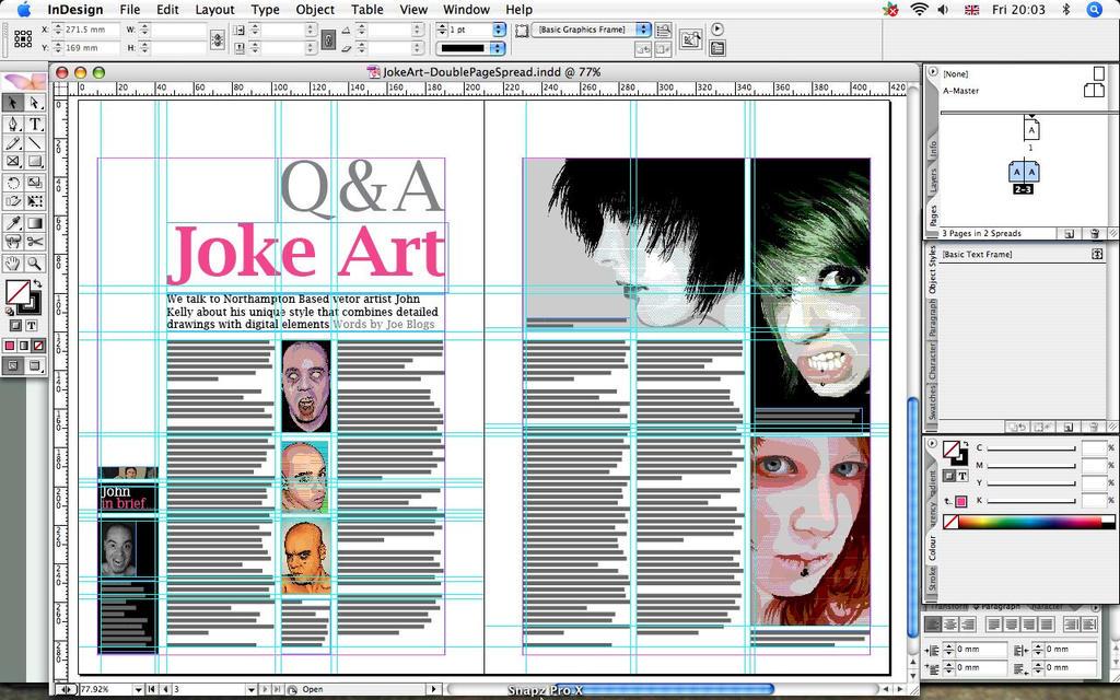 Как создать газету в adobe indesign