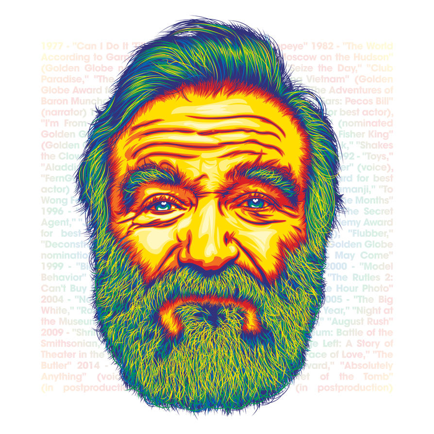 Robin Williams by flatfourdesign