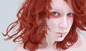 Red Head Scanner Darkly Style