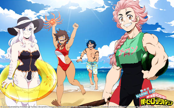 [BNHA] YCH - BEACH DAY
