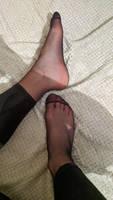 Fragrant pantyhose feet
