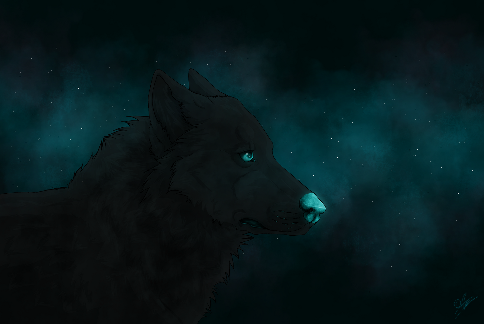 Blue night by Alluffer