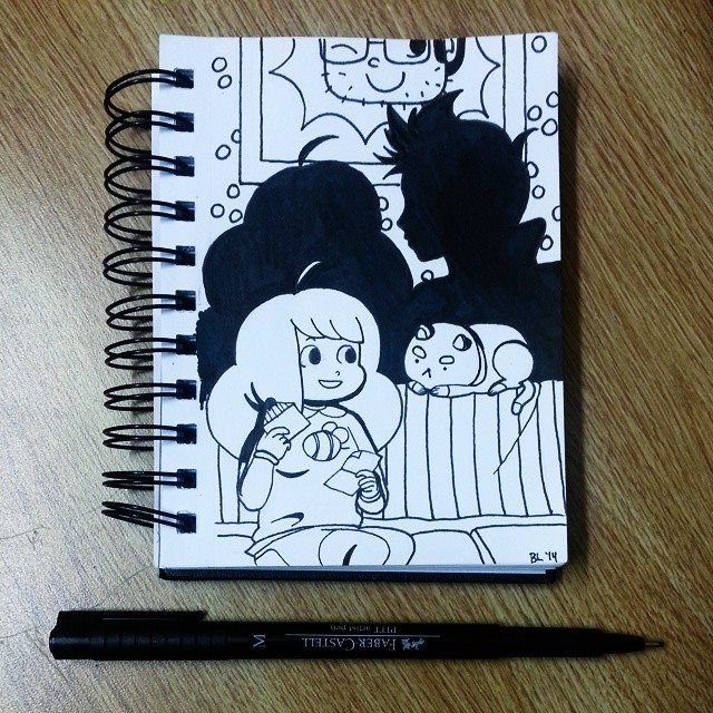 #3 Inktober - Bee And Puppycat by LLavvliet