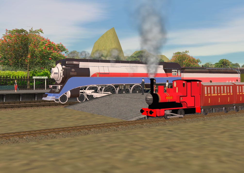 SP GS-4 in American Freedom Livery and Douglas by ThomasTankEngine76