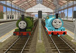 Percy and Liz, Brother and Sister by ThomasTankEngine76