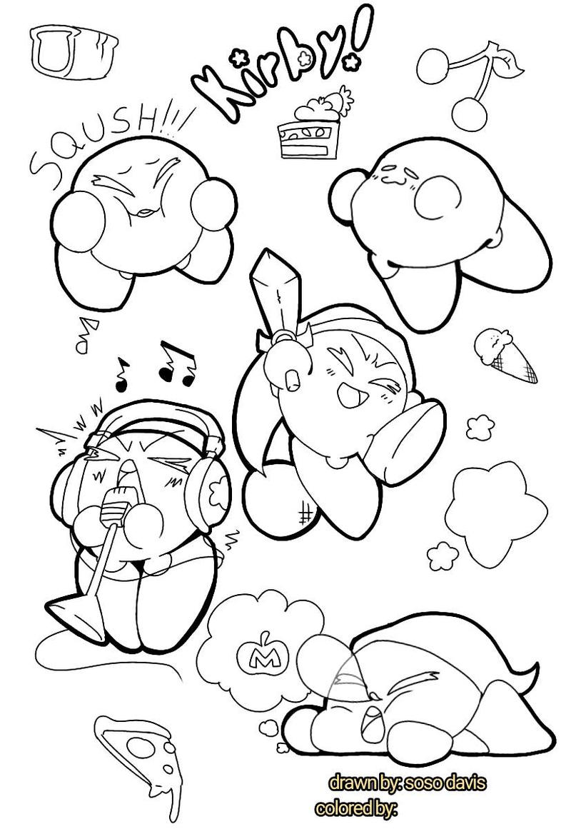 kirby coloring page! by sosodavis on DeviantArt