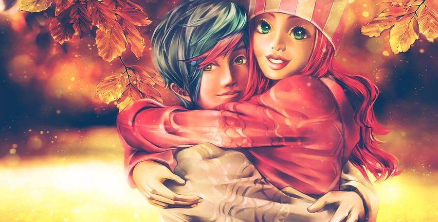 Hug me tight, darling! by Yinamon