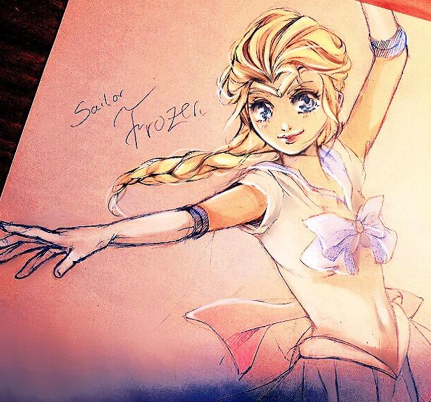 Sailor Frozen: Elsa as Sailor Soldier :D by Yinamon