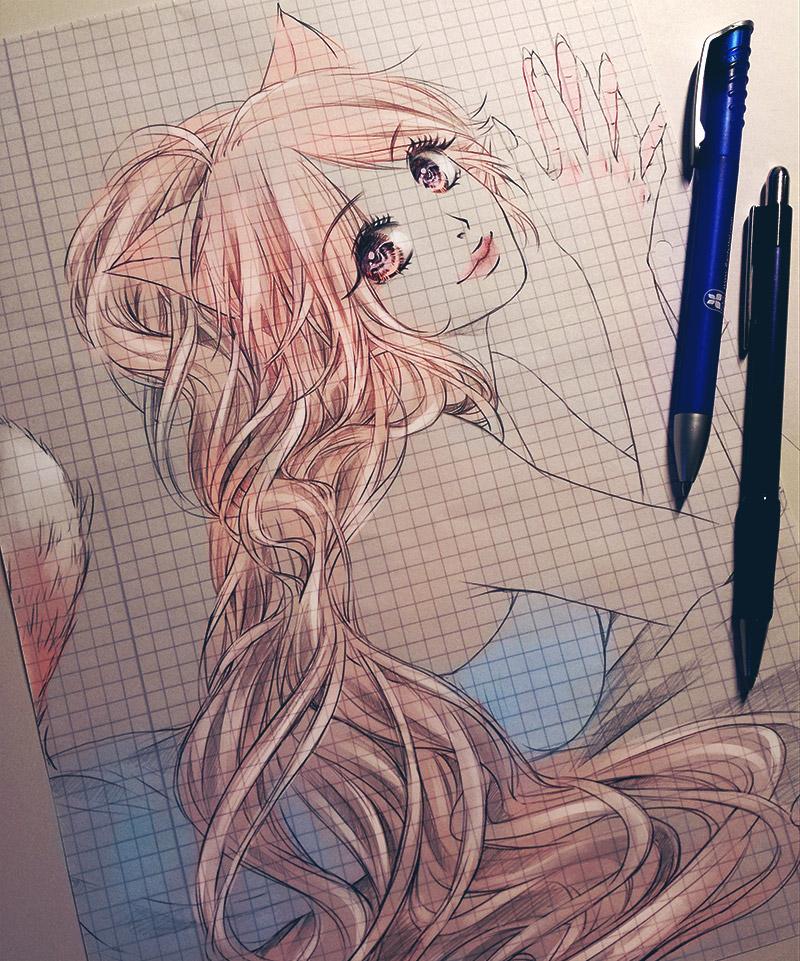 Firefox as Manga Girl by Yinamon