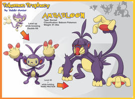 Ambabloon Evolution of Ambipom by lanceofdragon