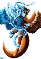 (Gift) Pau the Dragonwolf by Liscobe