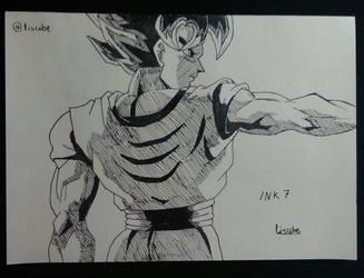 Inktober 7: Son Goku by Liscobe