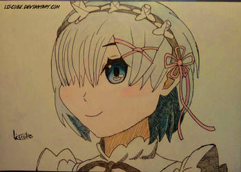 Rem Fanart (Traditional) by Liscobe