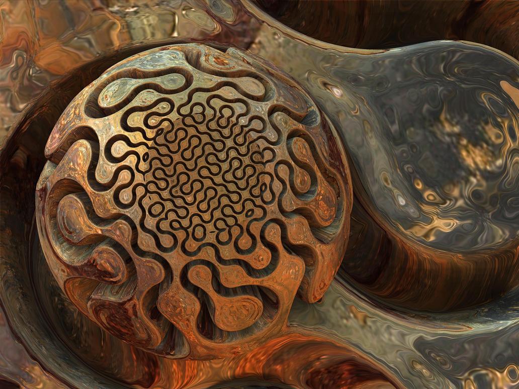 Vintage Carved Knob by recycledrelatives