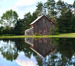 Old Barn Across The Pond