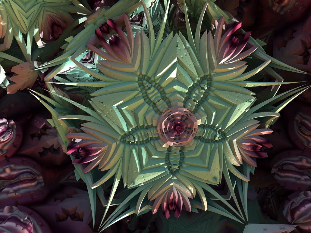 Fleur de Fractale by recycledrelatives