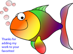 Colorful Fish Thanks by recycledrelatives