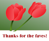 2 Red Tulips - Thanks by recycledrelatives