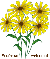 YellowFlowersWelcome2 by recycledrelatives