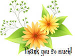 Yellow Flowers Thank You So Much by recycledrelatives