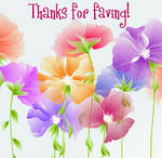 Thanks For Faving Flowers by recycledrelatives