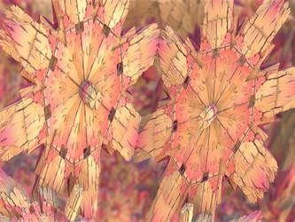 Balsa Wood Flowers by recycledrelatives