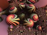 Loxodromic Swirls