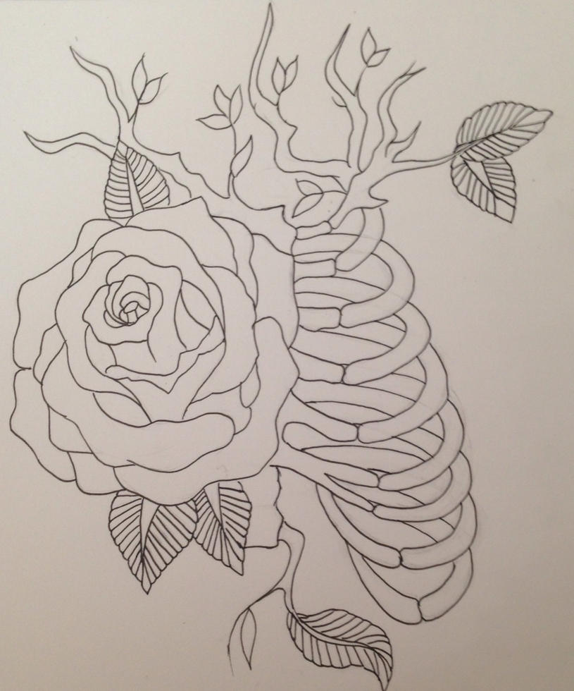 Rose Tattoo Design Outlinedenenasvalencia