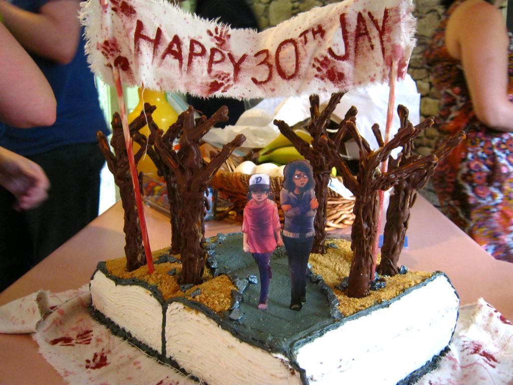 The Walking Dead Game Birthday Cake By Jgraydingler On Deviantart