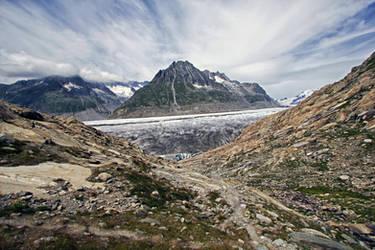Aletschgletscher by jaehneARTS
