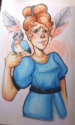 Beatrice- Over the Garden Wall by ArtsyErica